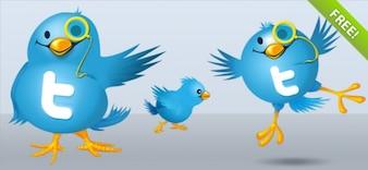 Twitterの鳥のイラスト
