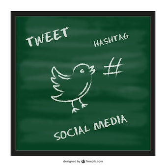 Twitter hashtag chalkboard template