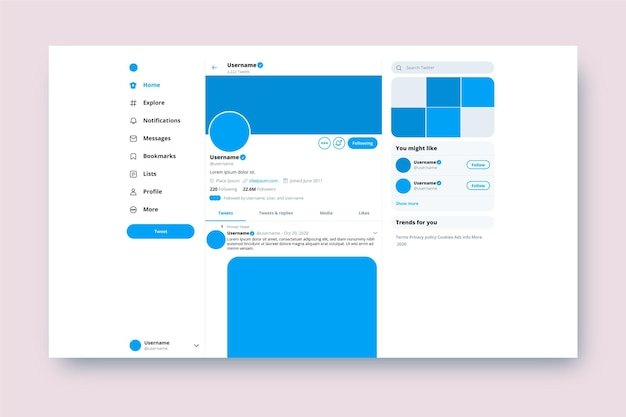 Twitter interface concept