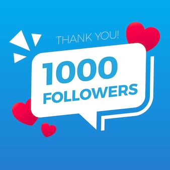 Twitter Thank You One Thousand Followers