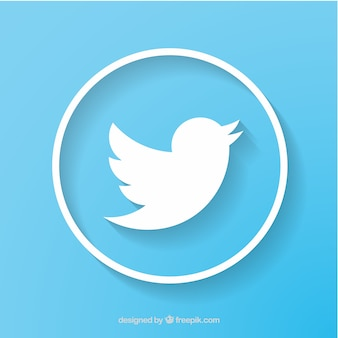 Twitterのソーシャルネットワークのアイコンベクトル