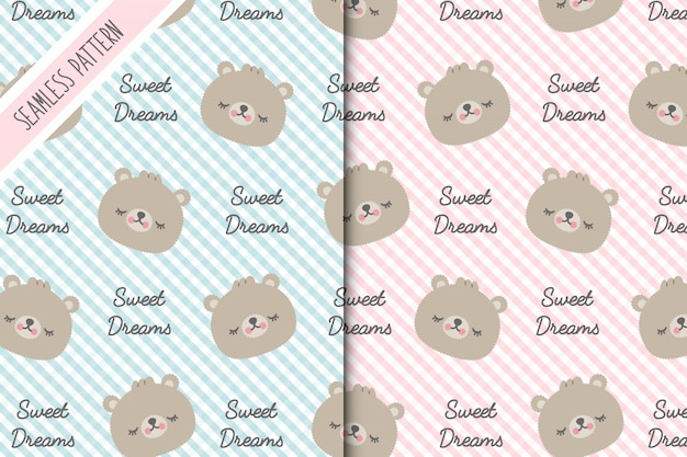 Two baby bear backgrounds premium