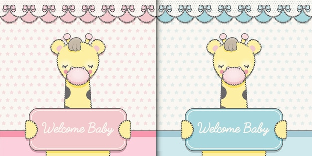 Two baby shower cards premium