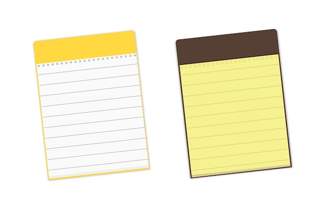 Two background notebooks with lines