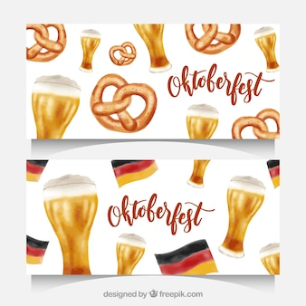 Two beautiful banners for oktoberfest