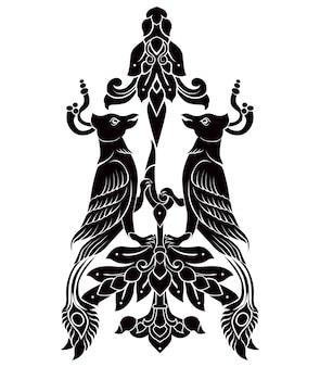 две птицы татуировки