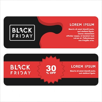 Premium Vector Two Black Friday Special Offer Template With Discount