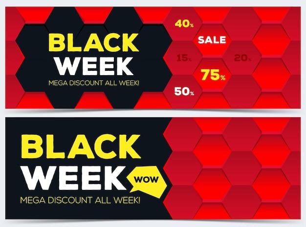 Two black week sale