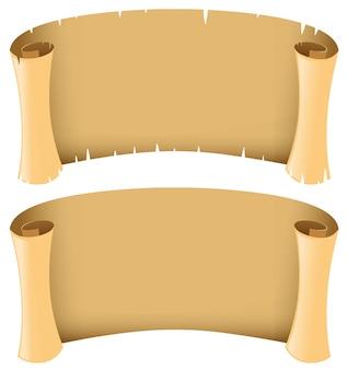 中世スタイルの2つの空白のバナー