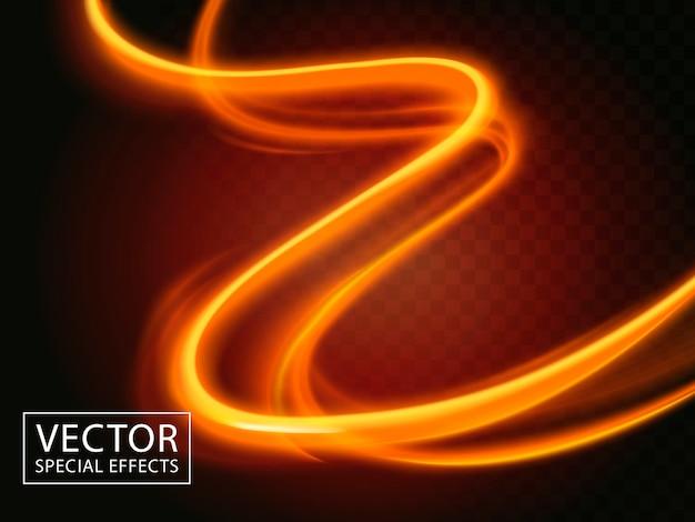 2つの明るい光の筋、特殊効果