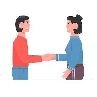 Рукопожатие двух деловых партнеров для партнерства