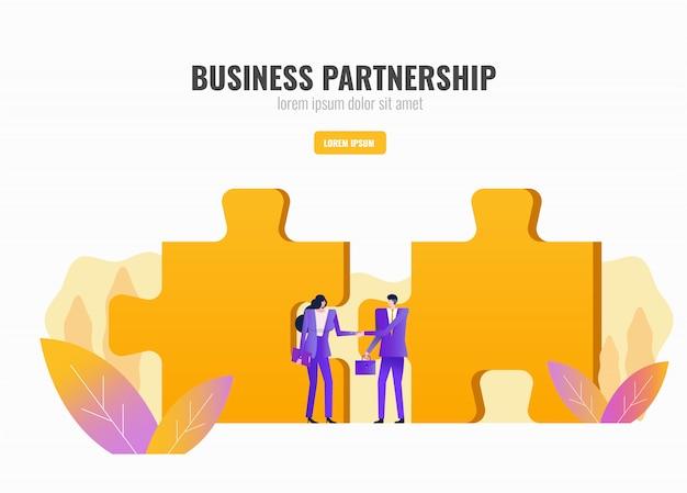 Two business people handshake