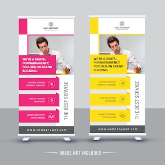 Two business roll up design