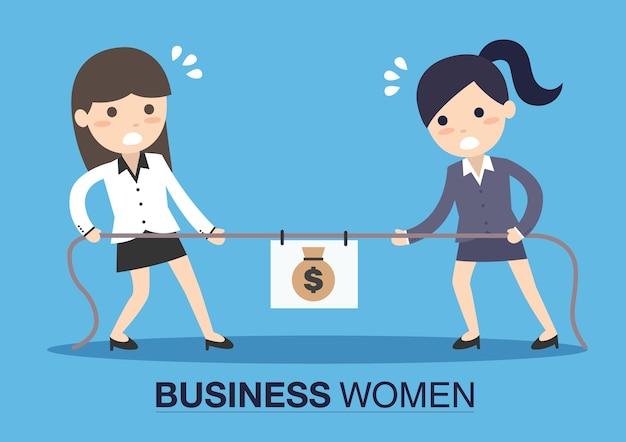 Two business women in career race