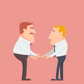 Two businessman deal for business