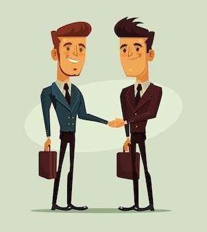 Двое бизнесменов, пожимая руки