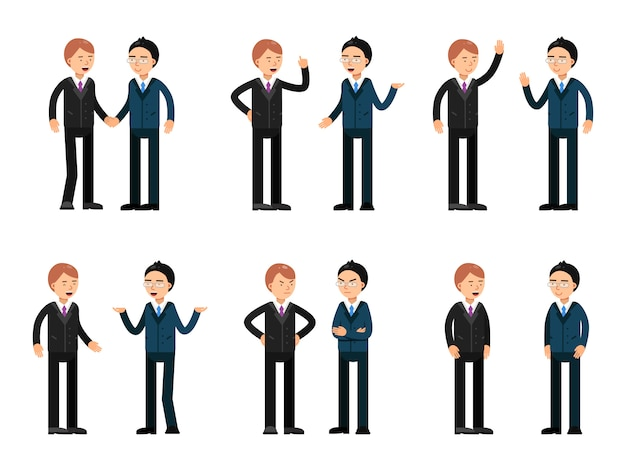 Two businessmen talking. vector characters