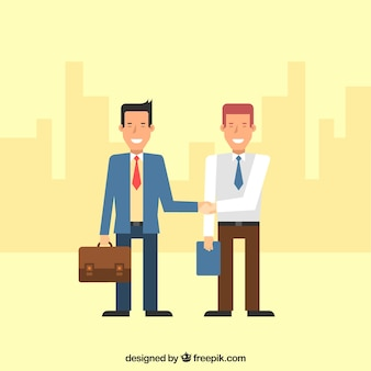Two businessmen with an agreement