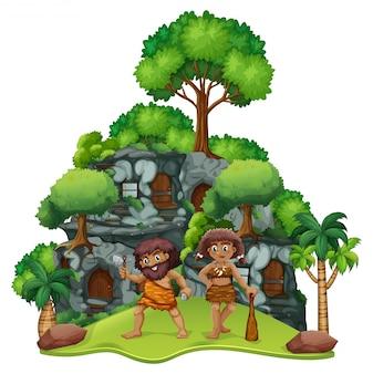 Два пещерных дома