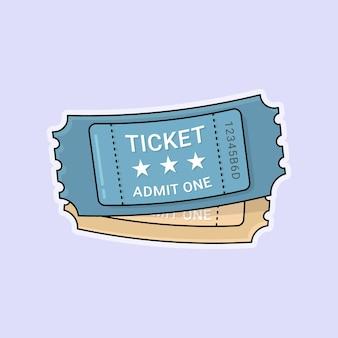 평면 디자인의 두 영화 티켓 벡터
