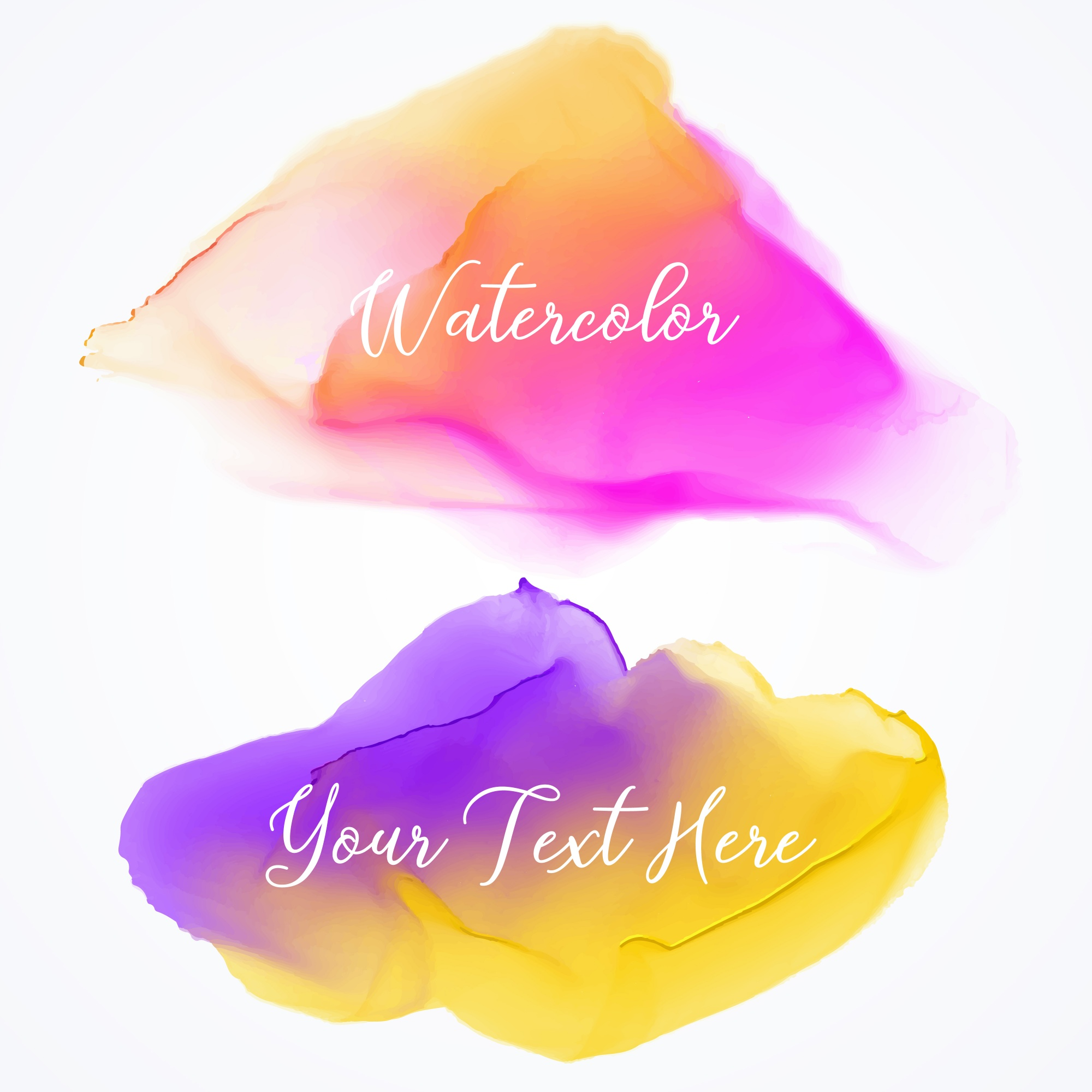 Two colorful watercolor textures