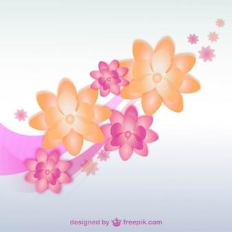 2色の蘭の花のベクトル