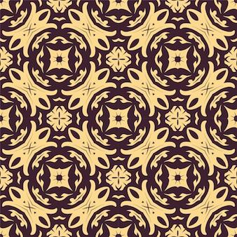 2色のシームレスな飾りの形。シンプルなパターンの抽象的な背景