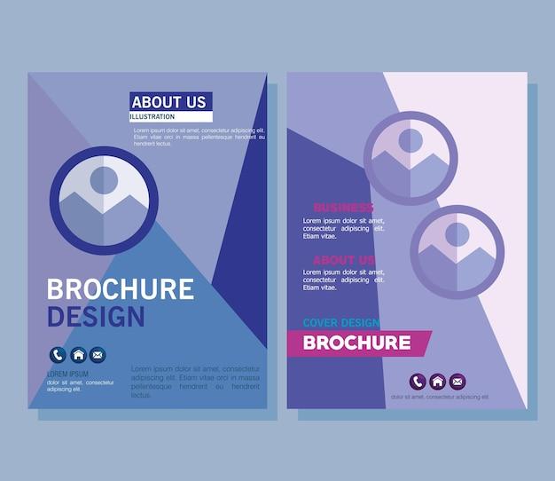 Two corporate brochures