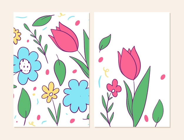 Two cover with flowers pattern.