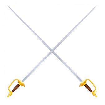 Two crossed swords