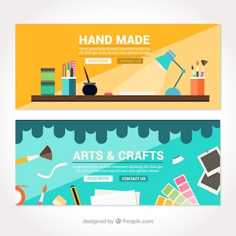 Two cute banners about crafts