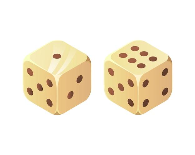 Два кубика бросьте кости дьявола казино игры на удачу, концепция решения в реалистичном мультфильме