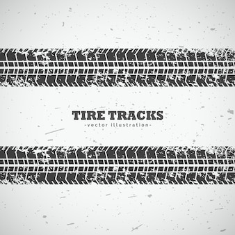 Two dirty tire tracks