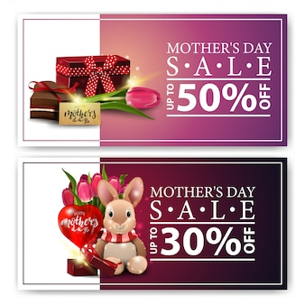 Two discount banners for mother's day