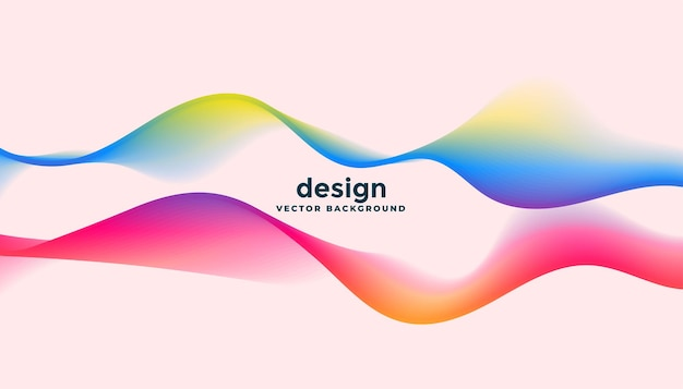 Two dynamic flowing waves in colorful style