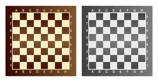 Две пустые шахматные доски. концепция графической векторной иллюстрации. художественный дизайн в клетку, шахматную или шахматную доску