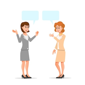 会話をする女性社員2人