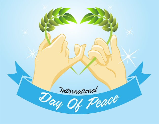 Two fingers do a symbol of peace