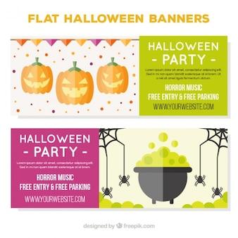 Due bandiera appartamento in halloween