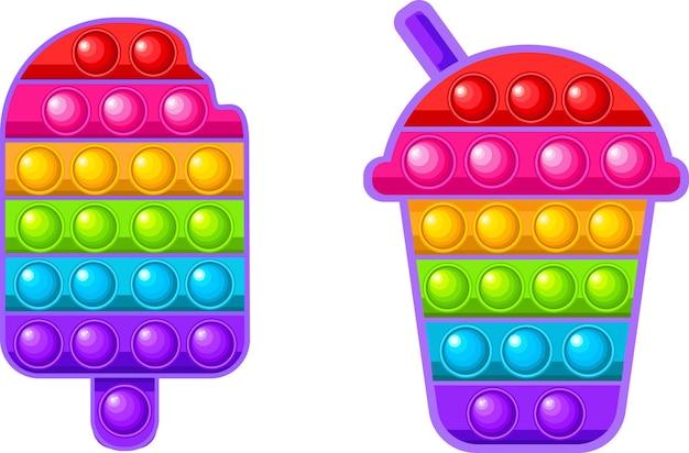 Два прикольных pop it сенсорная игрушка для непосед