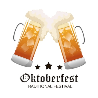 Two glass beer oktoberfest