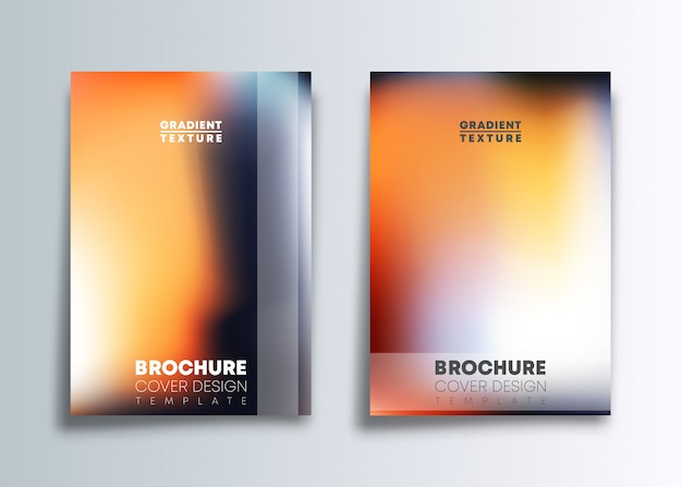 Two gradient cover template