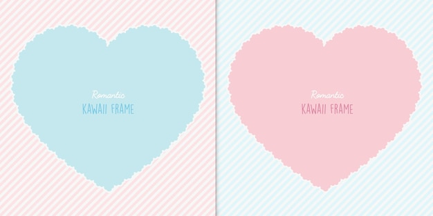Two hearts cards set