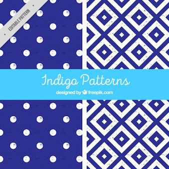 Two indigo patterns