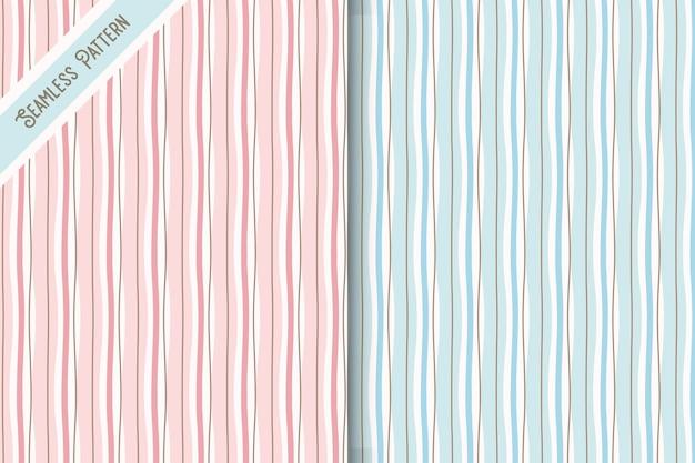 두 개의 불규칙한 스트립 원활한 패턴