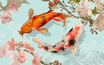 Koi Vectors, Photos and PSD files | Free Download Japanese Koi Fish Swimming