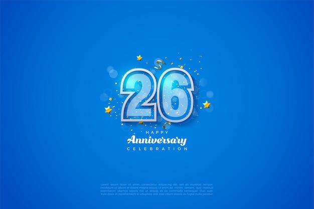 26周年記念の2層の数字
