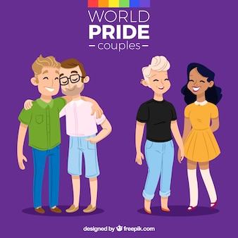 Two lovely pride day couples