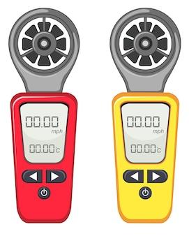赤と黄色の2つの測定装置