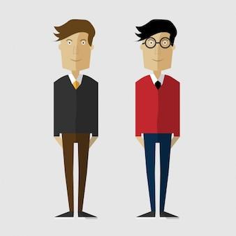 Two men illustration
